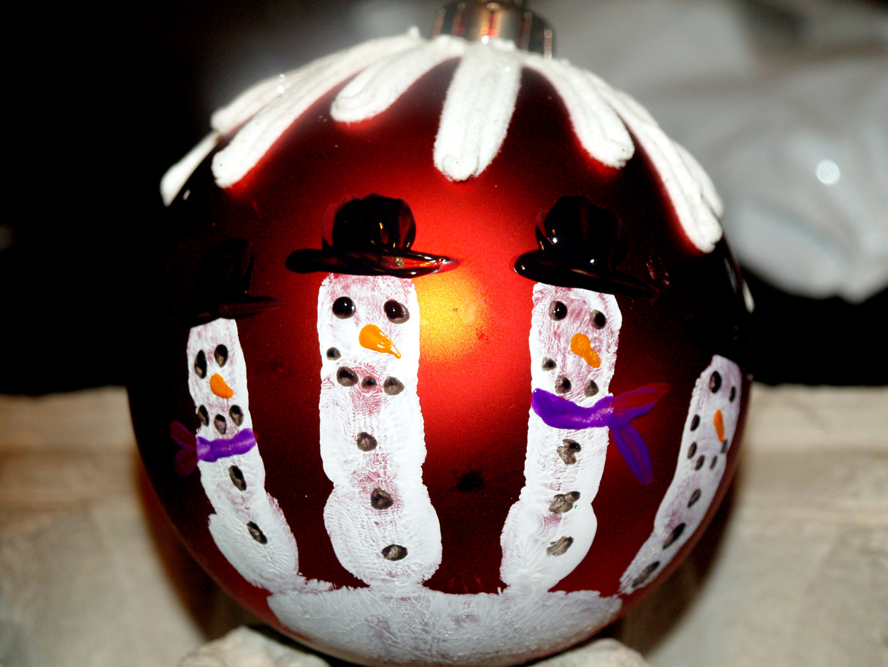 Guest Post Handprint Snowman Christmas Ornaments