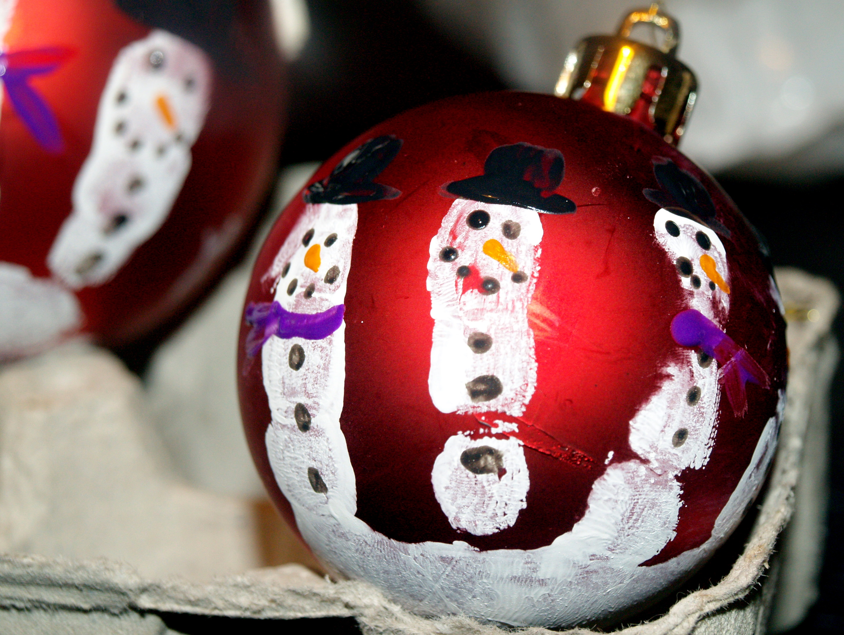 Snowmen christmas ornaments - These